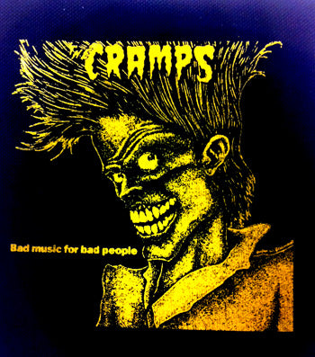 Cramps Bad Music For Bad People Printed Patche