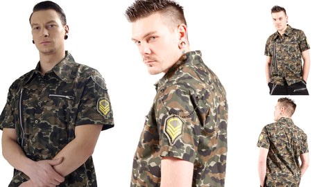 Dead Threads Camouflage Workshirt with accessories GS1214  Mens Shirt