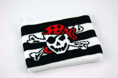 Various Stuff Purse Knitted Pirate Skull Purses and Wallet