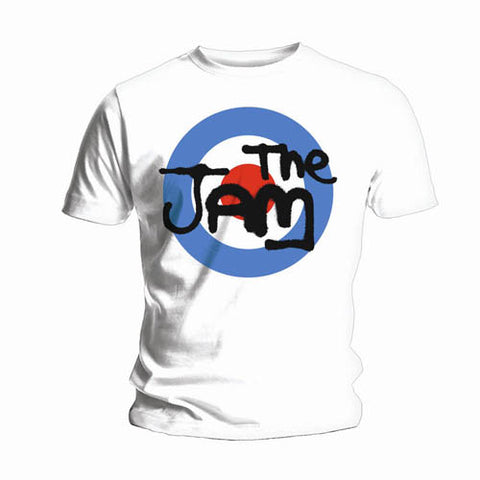 Jam Target On White Mens Tshirt