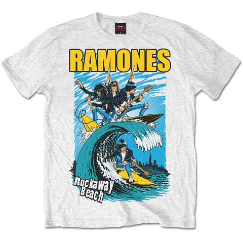 Ramones Rockaway Beach on white Mens Tshirt