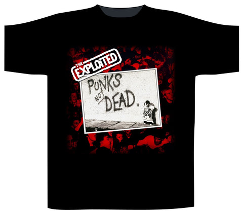 Exploited Punks Not Dead Live Crowd Mens Tshirt