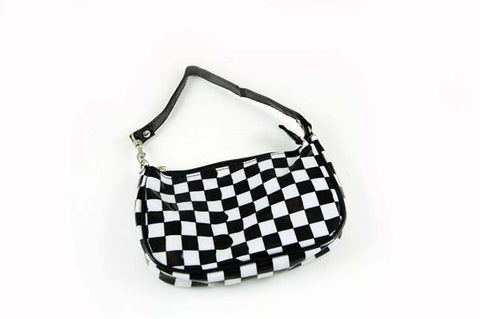 Various Stuff Bag Pvc White And Black Check Bag