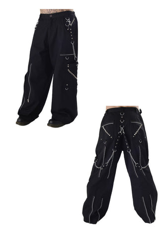 Dead Threads Gothic Punk Black trousers with black studs TT1241 Mens Trouser