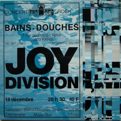 Joy Division Bains Douches 18th Sept 1979 Vinyl LP