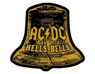 ACDC Hells Bells Cut Out Woven Patche