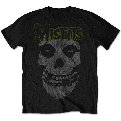 Misfits Classic Vintage Green Writing Mens Tshirt