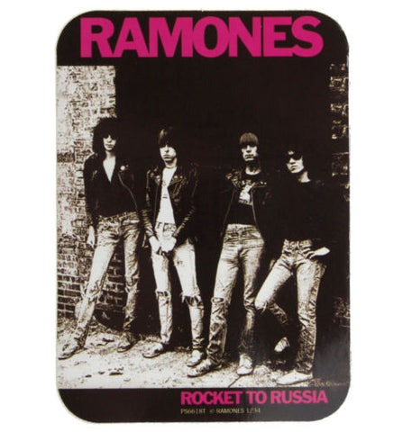 Ramones Rocket To Russia curved edge sticker Sticker