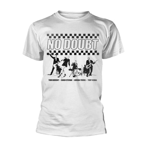 CHEQUER DISTRESSED - Mens Tshirts (NO DOUBT)