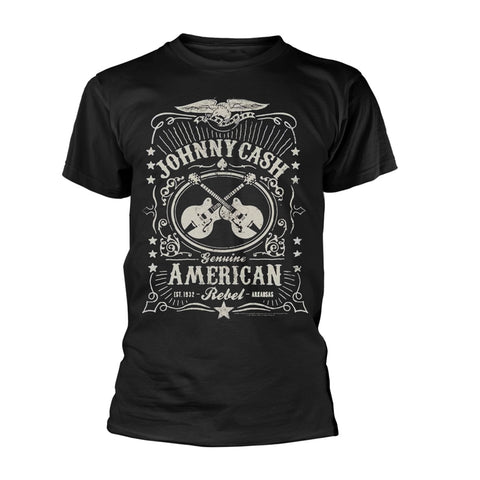AMERICAN REBEL - Mens Tshirts (JOHNNY CASH)