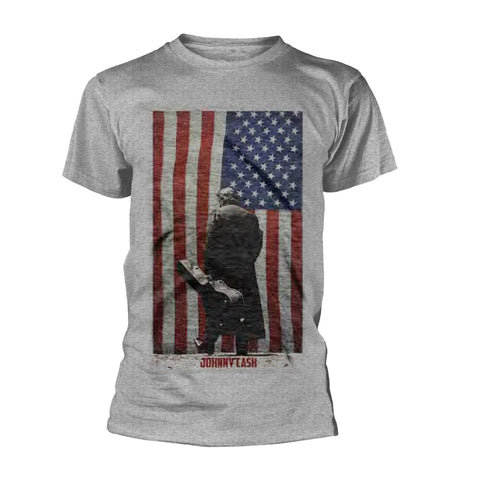 AMERICAN FLAG - Mens Tshirts (JOHNNY CASH)