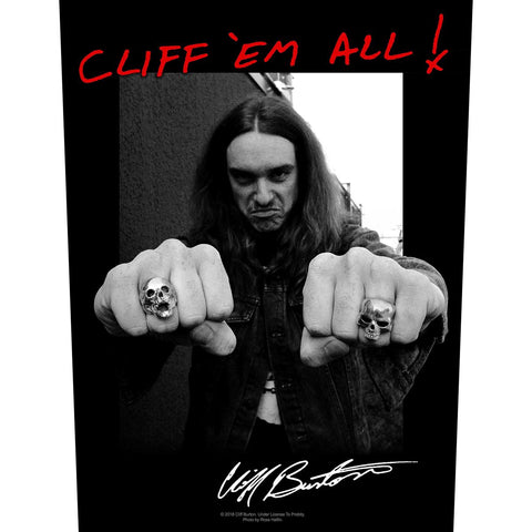 Metallica - Cliff 'Em All Backpatch