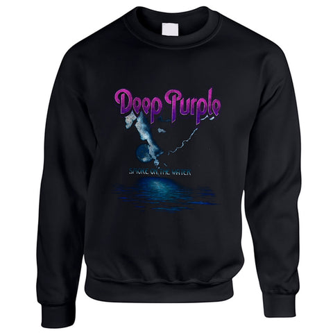SMOKE ON THE WATER - Mens Sweater (DEEP PURPLE)