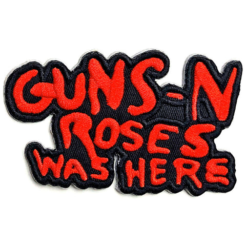 Guns 'N' Roses - Was Here Cutout Woven Patch