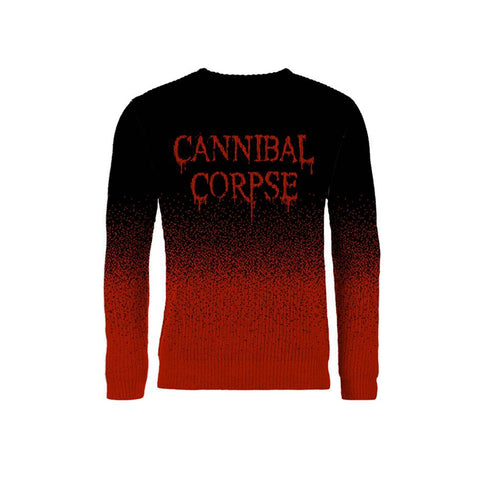 DRIPPING LOGO (DIP DYE, KNITTED JUMPER) - Mens Sweater (CANNIBAL CORPSE)