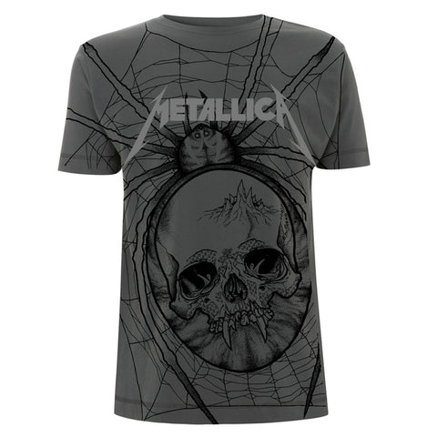 SPIDER (ALL OVER) - Mens Tshirts (METALLICA)