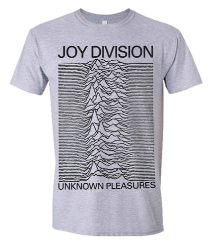 UNKNOWN PLEASURES (GREY) - Mens Tshirts (JOY DIVISION)