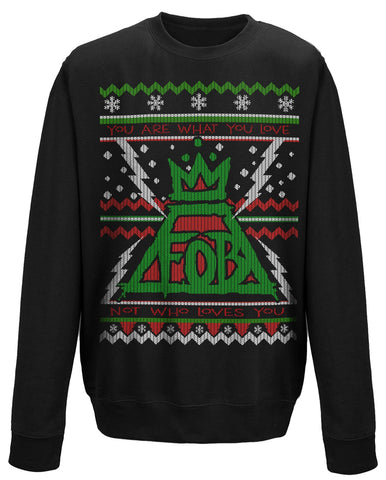 CHRISTMAS LIGHTNING - Mens Sweater (FALL OUT BOY)