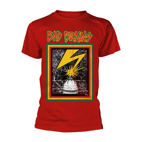 BAD BRAINS (RED) - Mens Tshirts (BAD BRAINS)