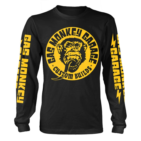 BIG YELLOW LOGO - Mens Longsleeves (GAS MONKEY GARAGE)