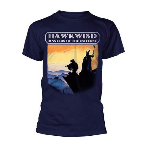 MASTERS OF THE UNIVERSE (NAVY) - Mens Tshirts (HAWKWIND)
