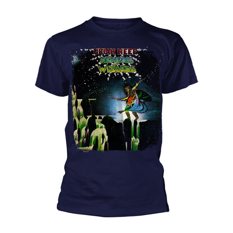DEMONS AND WIZARDS (NAVY) - Mens Tshirts (URIAH HEEP)