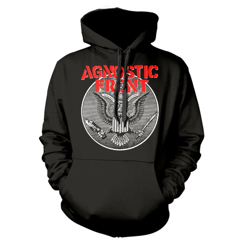 AGAINST ALL EAGLE - Mens Hoodies (AGNOSTIC FRONT)