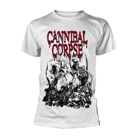 PILE OF SKULLS (WHITE) - Mens Tshirts (CANNIBAL CORPSE)