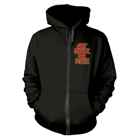 GET DRUNK OR DIE - Mens Hoodies (ALESTORM)