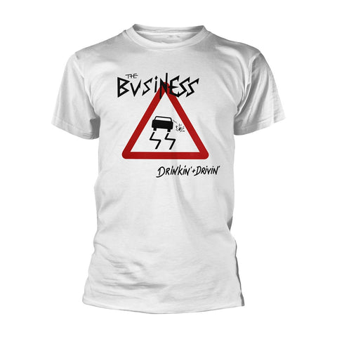 DRINKIN + DRIVIN (WHITE) - Mens Tshirts (BUSINESS, THE)