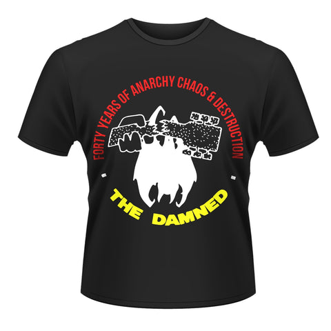 FORTY YEARS OF ANARCHY - Mens Tshirts (DAMNED, THE)