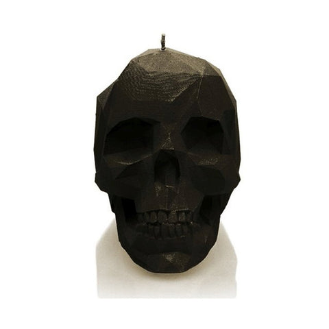 LARGE LOW POLY SKULL - BLACK - General Stuff (CANDLES)