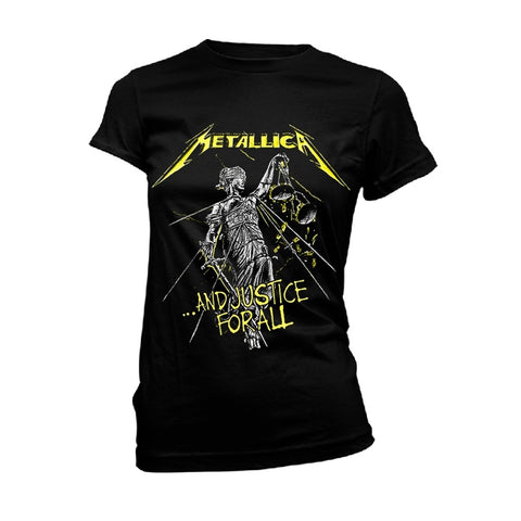 AND JUSTICE FOR ALL TRACKS (BLACK) - Womens Tops (METALLICA)