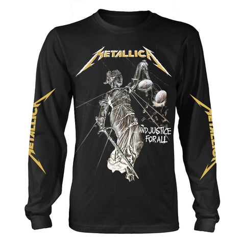 AND JUSTICE FOR ALL (BLACK) - Mens Longsleeves (METALLICA)