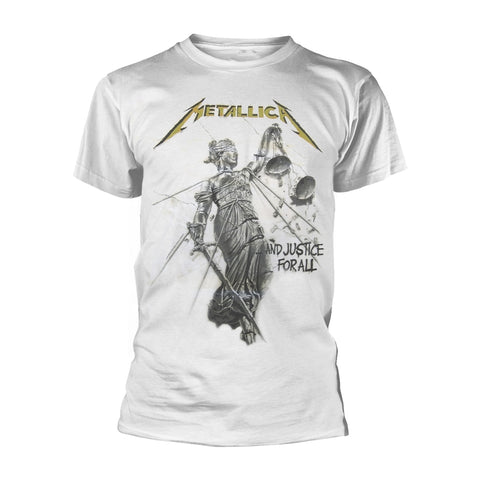 AND JUSTICE FOR ALL (WHITE) - Mens Tshirts (METALLICA)