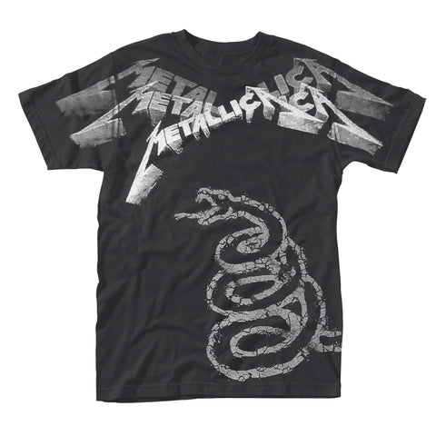 BLACK ALBUM FADED (ALL OVER) - Mens Tshirts (METALLICA)