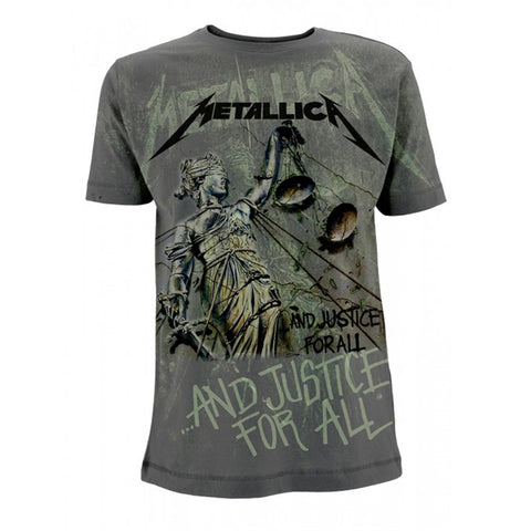 AND JUSTICE FOR ALL NEON (ALL OVER) - Mens Tshirts (METALLICA)