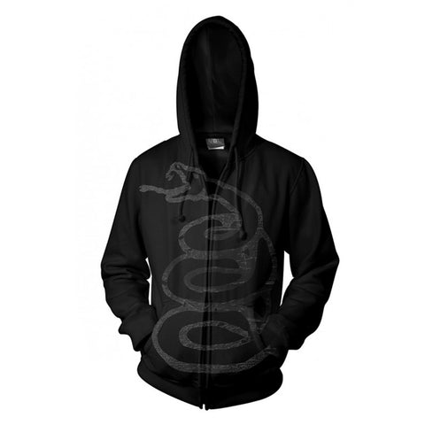 BLACK ALBUM BURNISHED - Mens Hoodies (METALLICA)