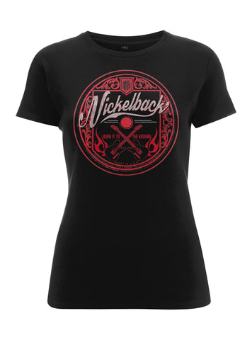 PINK LOGO CIRCLE - Womens Tops (NICKELBACK)