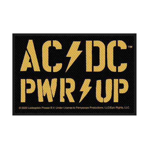 AC/DC - Yellow PWR Up Woven Patch