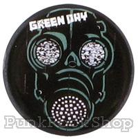 Green Day Gas Mask Badge