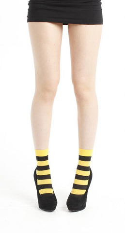 Pamela Mann Twickers Ankle Socks Flo Yellow Ankle Sock