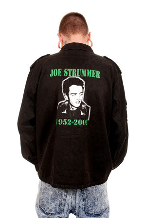 Clash Joe Strummer All Over Black Army Shirt Mens Shirt