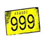 999 Yellow Logo on white Badge