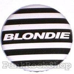 Blondie Logo Stripes Badge