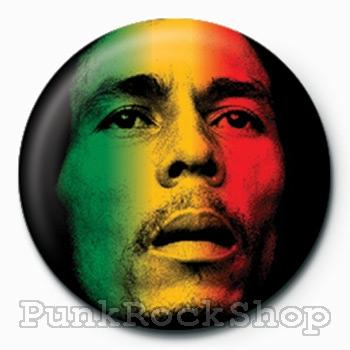 Bob Marley Face Badge