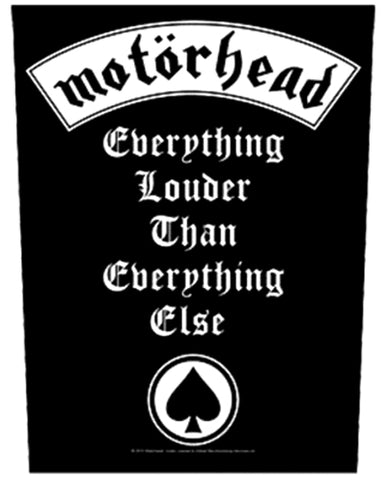 Motorhead Everything Louder Than Everything Else Backpatche