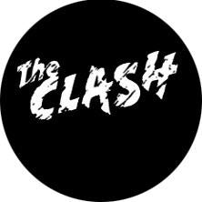 The Clash Logo Black and White Badge
