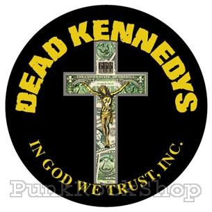 Dead Kennedys In God We Trust on Black Badge