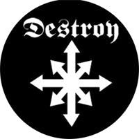 Destroy Logo Badge